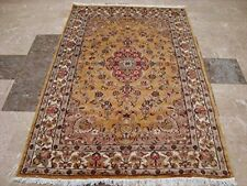 New Awesome Love Sun Floral Area Rug Hand Knotted Wool Silk Carpet (6 x 4)'