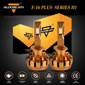 AUXBEAM H1 LED Headlight Decoder Canbus Hi/Lo Beam Bulbs Super Bright F-16Plus