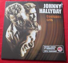 Johnny Hallyday, quelques cris , Maxi Vinyl  transparent