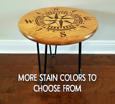 Compass End Table Night Stand Industrial Farmhouse Furniture Nautical Home