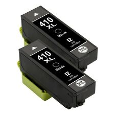 2 Pack Black for 410 XL 410XL Ink Cartridges fit Epson Expression Premium XP-830