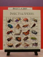 Scott # 3351 - Insects and Spiders.  Sheet of (20) 33 cent Stamps
