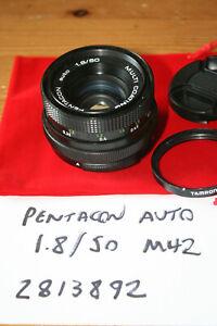 Pentacon Auto 50mm f1.8 Manual Focus Lens, M42 Screw Mount - SLIGHT FUNGUS