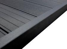 WPC Terrassendielen Abschlussleiste Abdeckleiste L Leiste anthrazit 1950x62x37mm