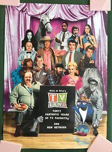 Vintage 1997 promo Nick at Nite TV LAND Poster 21 x 29 Green Acres Mr Ed Bilko