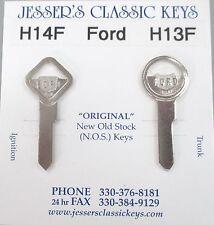 Vintage FORD Nickel NOS Keys 1952 1953 1954 1955 1956 1957 1958