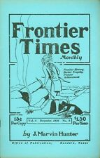 1926 Frontier Times Monthly Magazine (1970s reprint): Killing of John Bowles