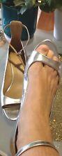 RAR: Spring 2013: Zara Bride escarpins sandale argent taille 41 NEUF