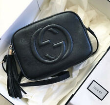 AUTH Gucci Soho Disco Small Black Leather Cross Body Bag