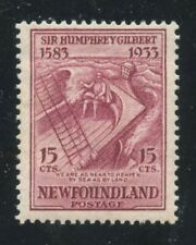 Newfoundland 1933 Humphey Gilbert issue 15c claret #222 VF mlh