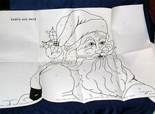 VTG  XMAS DIY WOODWORKING PATTERN, LIFE SIZE SANTA & PACK, YARD ART XMAS DISPLAY