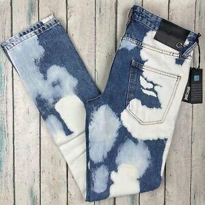 NWT-Just Cavalli Italian Bleach Cloud Dye Jeans - Size 28