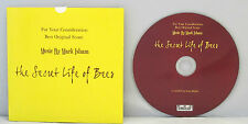 PROMO CD, FOR CONSIDERATION: MARK ISHAM SECRET LIFE OF BEES Fox Searchlight CDR