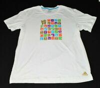 London 2012 Olympics Adidas Olympic Games Mens T-Shirt XL White Graphic Sports