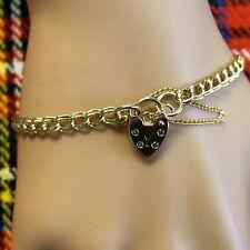 9 ct GOLD  new solid charm bracelet Ref 94