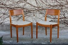Set of 4 Juul Kristensen Teak Dining-Chairs Danish Design