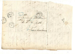 1856 STAMPLESS FOLDED LETTER, MAGDEBURG GERMANY