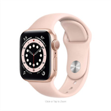 Apple Watch Series 6 (GPS) 40mm Gold Aluminum Case with Pink Sand Sport Band