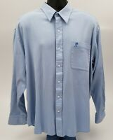 Walt Disney World Men's Dress Shirt Size XL Disneyland Resort Mickey Pocket Blue