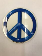 "New ""Blue Chrome Peace Symbol Small"" Sticker / Decal"