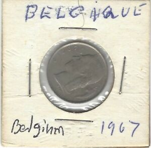 1967 BELGIUM BELGIE 1 Franc