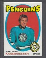 1971-72 O-Pee-Chee Pittsburgh Penguins Hockey Card #190 Sheldon Kannegiesser RC