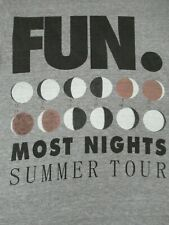 FUN MOST NIGHTS SUMMER TOUR MOON PHASES 2 SIDED-SMALL GRAY T-SHIRT- B1481