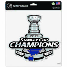 """St. Louis Blues 2019 Stanley Cup Champions WinCraft Perfect Cut Decal (8""""x8"""")"""