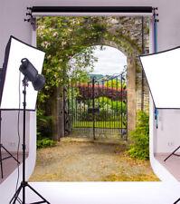 6.5*8Ft Vinyl Background Garden Fence Gate Photography Photo Backdrop Studio