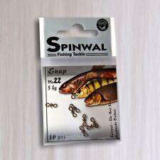 SPINWAL fishing snap,clip size 22.10 PCS. lure fasten loop,drop shot jigging,