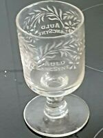 Victorian Scottish Drinking Glass, Auld Lang Syne.Circa 1820s