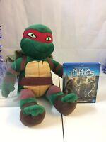 Teenage Mutant Ninja Turtles Raphael Build A Bear With Blu-ray Dvd Movie Bundle