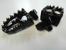 MX FOOTPEGS ALLUMINIO PEDANE KTM SX exc125 01 02 03 04 05 06 07 08 09 10 11 BLACK