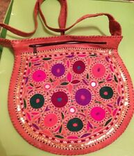 Indian/Persian Hand-Made Leather Bag