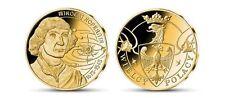 Poland  Medals Kopernik Copernicus Brass Platered 24K Gold only 10.000 pcs