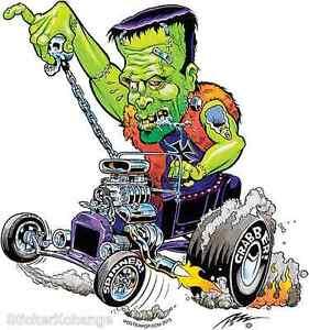 Teenage Frankenrod Burnout Sticker Decal Artist The Pizz P68 Frankenstein