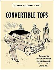 Convertible Top Service Manual 1949 1950 1951 1952 Dodge Plymouth DeSoto De Soto