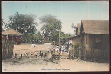 Postcard SINGAPORE CHINA  Malay Dwelling House view 1905?