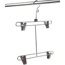 Metal SWIMWEAR LINGERIE DOUBLE BAR HANGER - 4 Adjustable Clips 41 x 30cms 1678-1