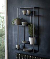 Large Black Wall Shelf Open Faced Box Shelves Large Wall Unit