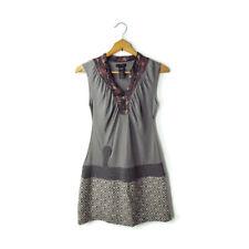 CUSTO Barcelona mini dress 3 S / XS stretch knit tank twill skirt gray floral