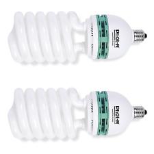 Lencarta 85W luz del día equilibrado CFL 5400K 92Ra E27 Bombilla continua