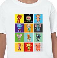 Cocomelon Kids T-Shirt Printed Gift Birthday Nursery Rhymes Johnny JJ Boys Girls