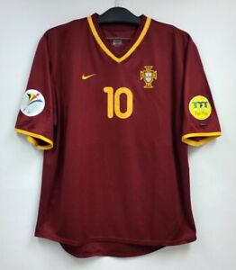 EURO 2000 Portugal Home S/S No.10 RUI COSTA Jersey Shirt Trikot