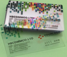 200 0.38mm Frosted Transparent PVC Plastic Business Card Printing Free Shipping