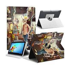 Housse Etui Motif MV14 Universel L pour Tablette Archos Elements 97 Carbon