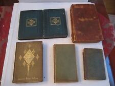 LOT OF 6 ANTIQUE BOOKS - COLLECTIBLE - FROM THE 1800'S