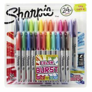 Sharpie Fine Permanent Markers Colour Burst 24 Pack