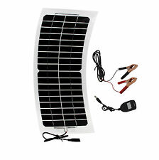 10W Flexible Solar Panel Mono Module Boat Roof RV Car 12V Battery Power Charger
