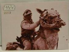 2019 Topps Star War BLACK WHITE LUKE TAUN TAUN RED PARALLEL Empire Strike 10/10